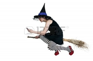 Allison Linn on her broom